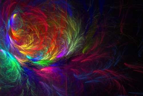 fractal flame fractal Apophysis black background