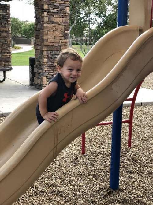slide playground park play child