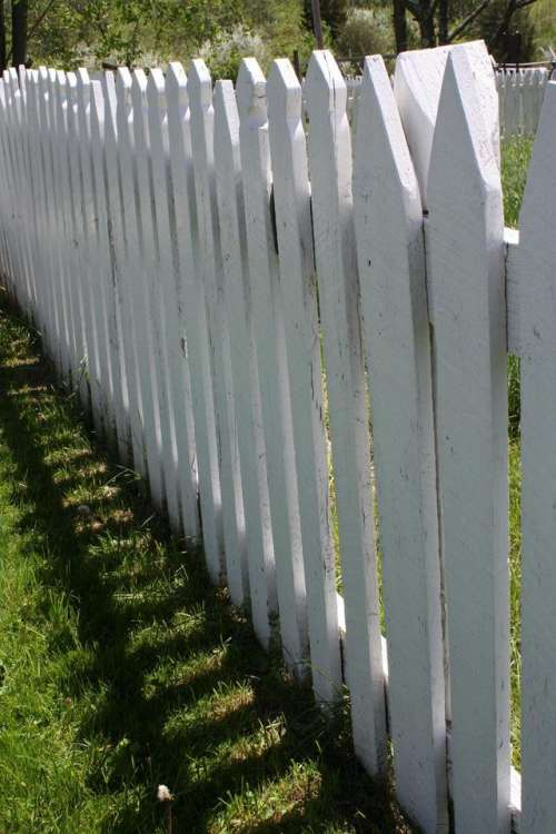 fence white fence picket picket fence Gettysburg