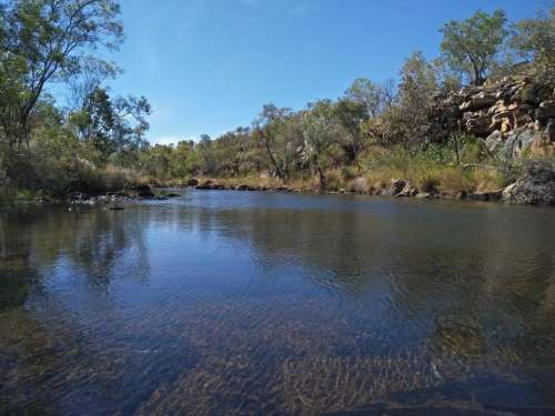 nature river waterway water outback