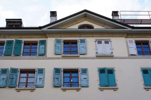 architecture window windows Switzerland Europe