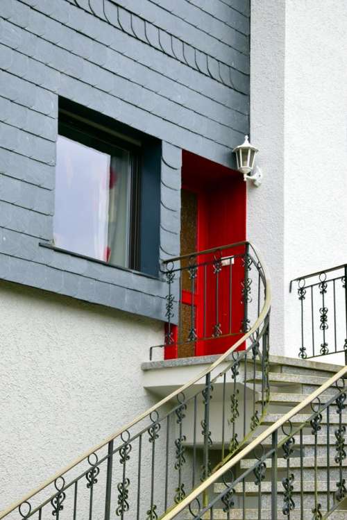 door red door stairs entrance #red_door