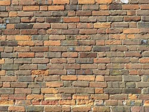 brick wall pattern old bricks background