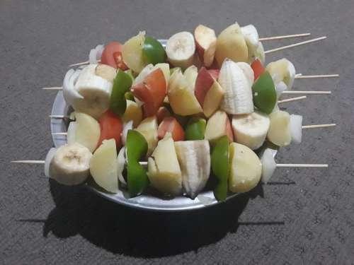 shish kebob food skewers skewered fruit