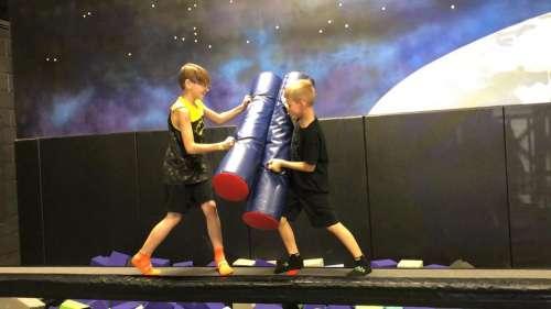fighting jousting gladiator joust boys