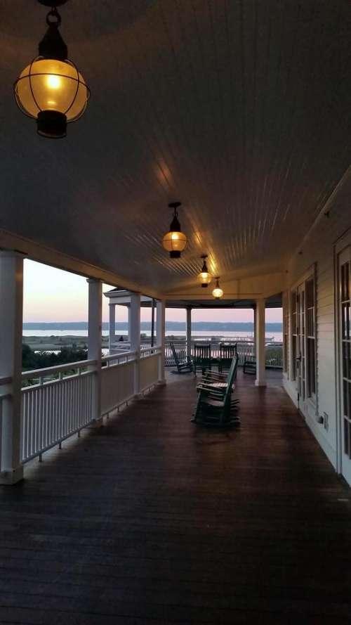 Edgartown Martha's Vineyard porch flag Harbor View Hotel