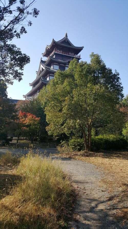 japan travel orient castle place