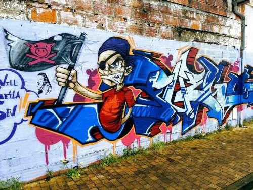 Graffiti art cold colour france