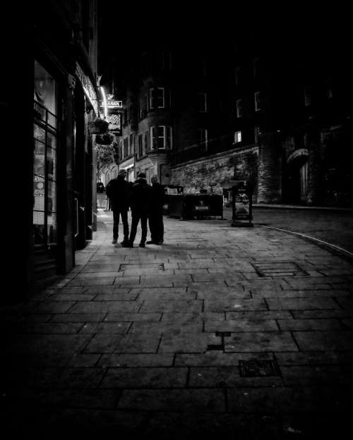 edinburgh darkedinburgh night street scotland