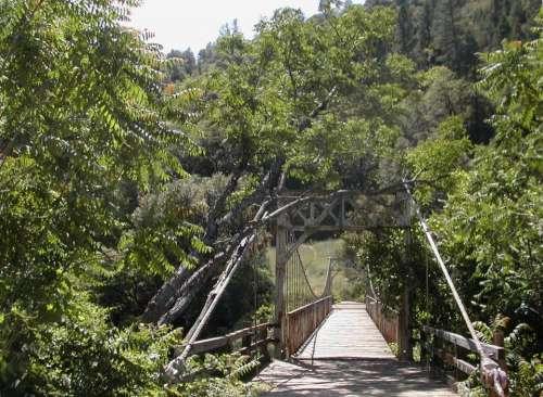 suspension bridge American River CA