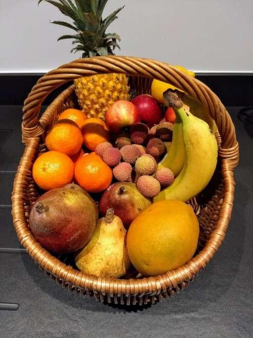 basket of fruit fruit banana orange yellow