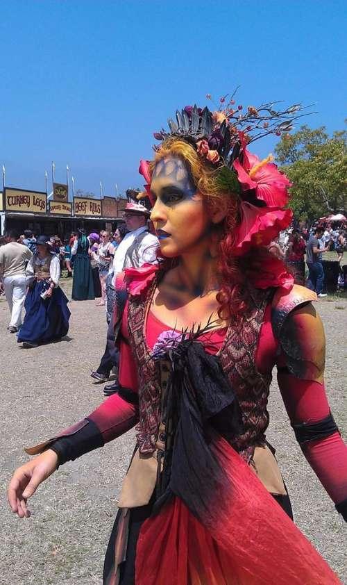 fair festival face painting woman