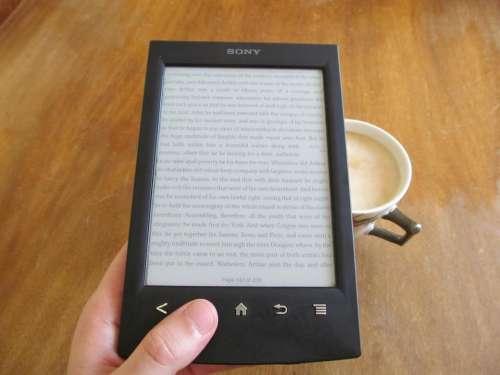 electronics tablet reading text