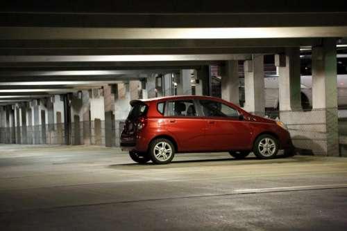 car vehicle transportation parked parking garage