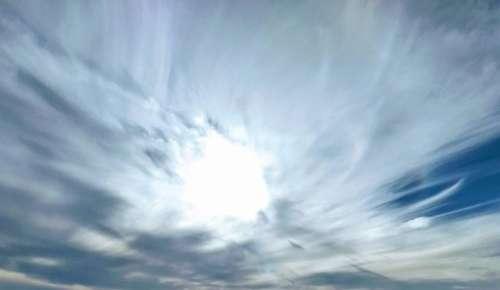 panorama sky trails chem trails contrails evening sky