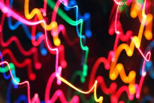 abstract color lights motion neon