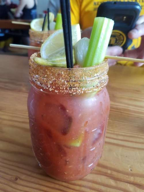 Bloody Mary beverage alcohol alcohol beverage breakfast