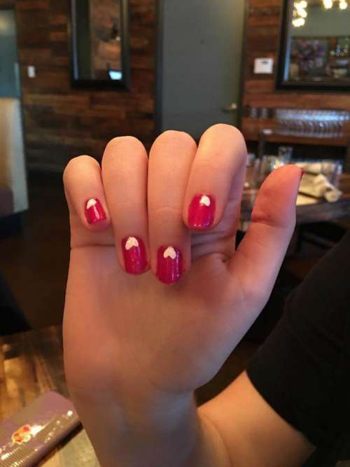 fingernails nails mani manicure hearts