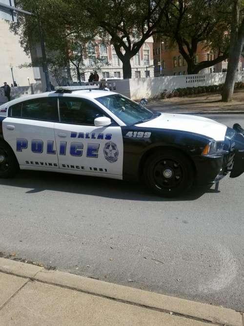 Dallas cop car police police car Texas