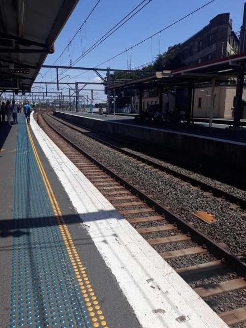 Sydeny Australia train station railway train tracks