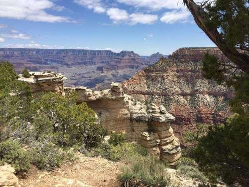 Grand Canyon south rim landscape view