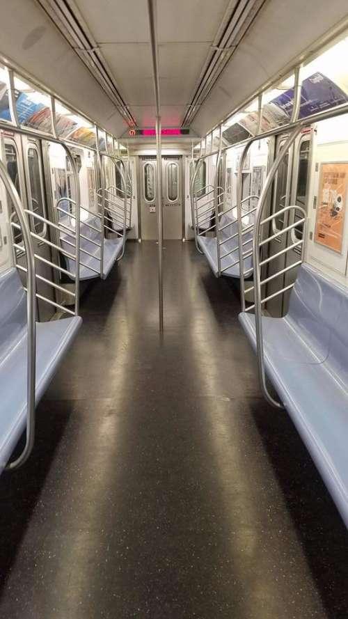 Subway train subway car transportation NYC