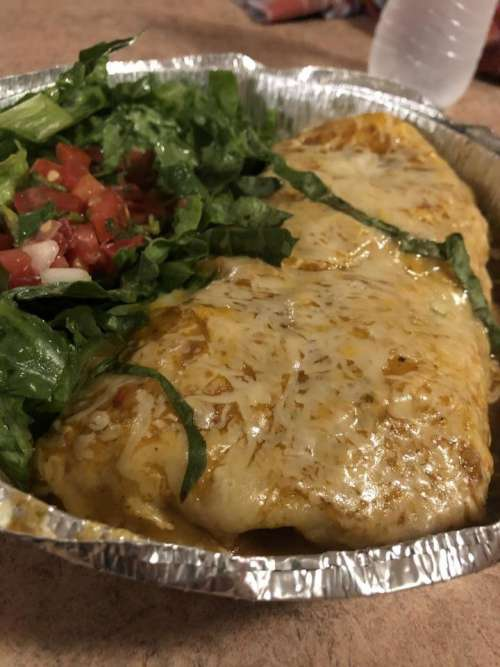 mexican food burrito fresh lettuce