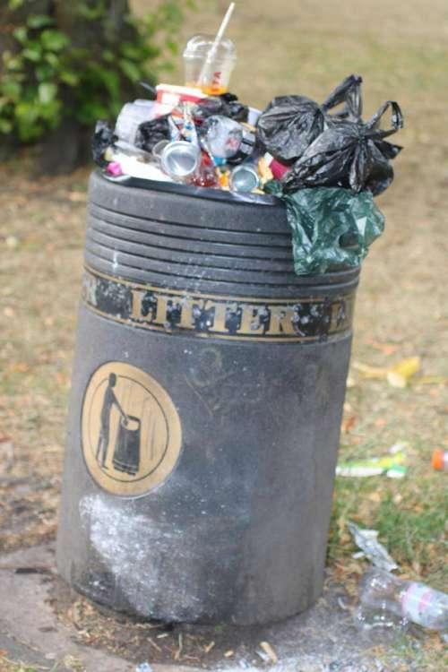 Trash garbage refuse garbage can litter