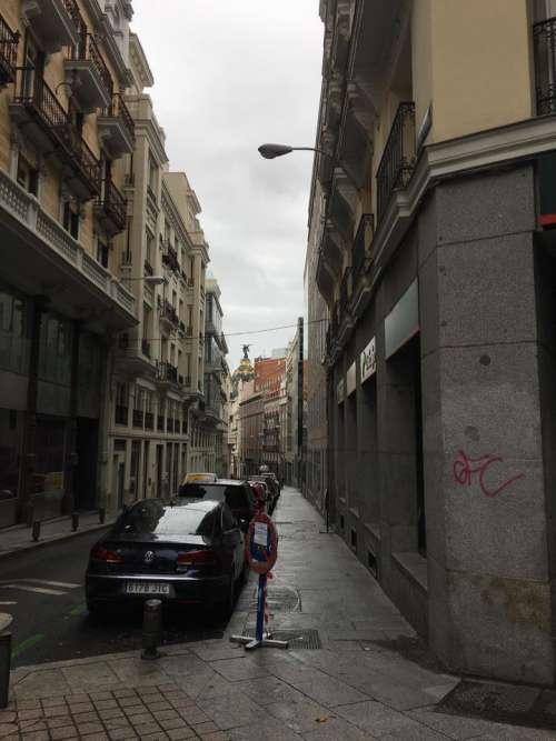 street city road Europe parking