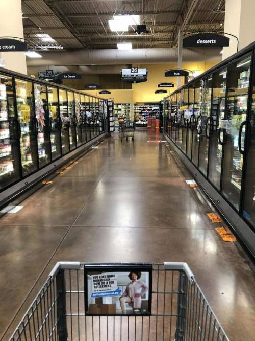 grocery store grocery store aisle frozen aisle