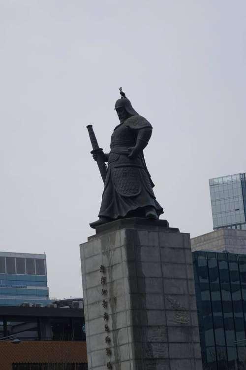 Seoul South Korea statue sculpture icon