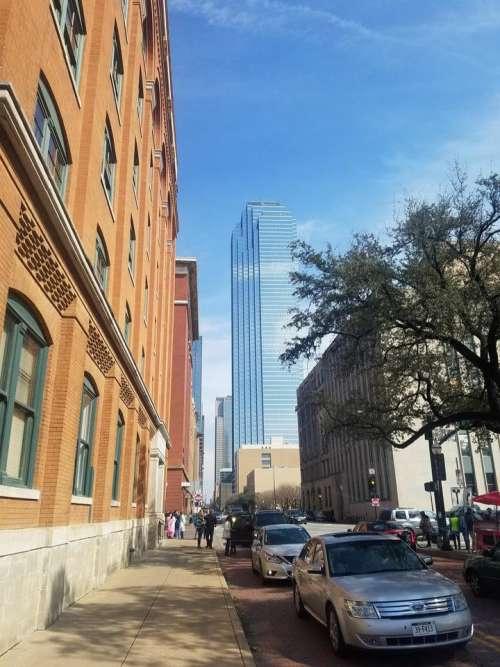 City Dallas Texas Dealey square street