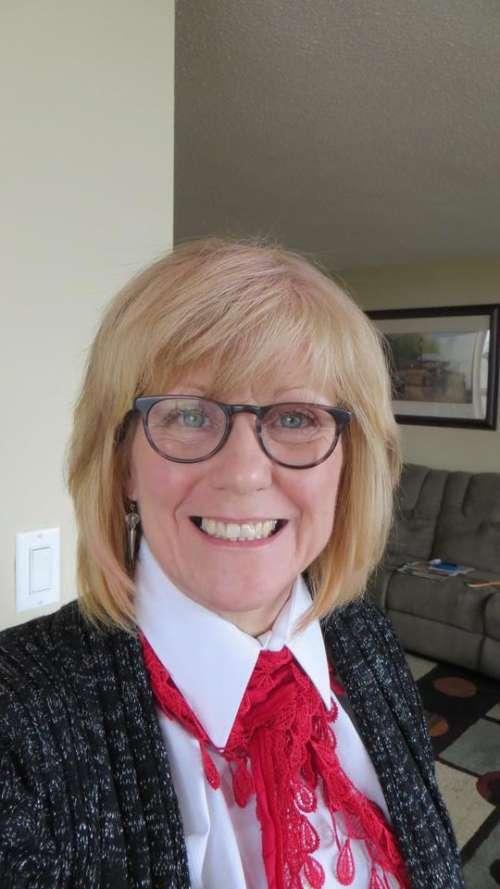 woman female smile glasses blonde