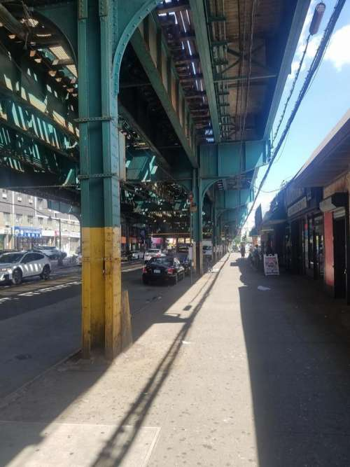 New York City NYC city Queens train