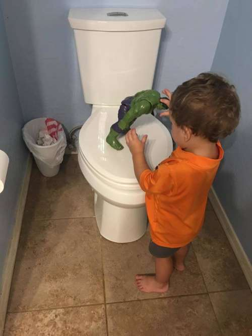 toilet toddler hulk potty training little boy
