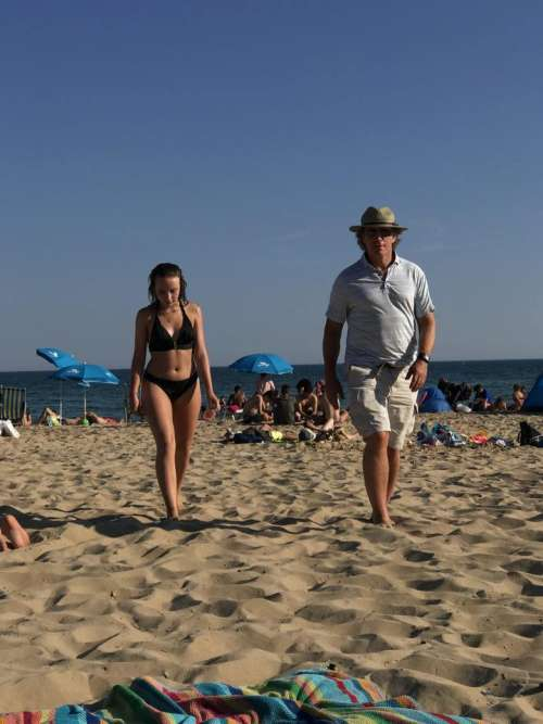 Beach seashore people