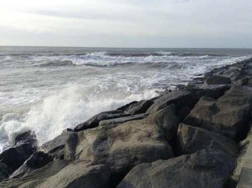#wave ocean waves rocks coast