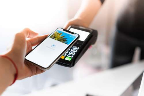 Customer Using Apple Pay for NFC Payment