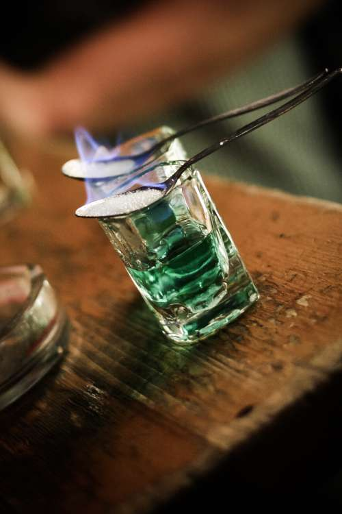 Serving Absinthe with Fire Ritual