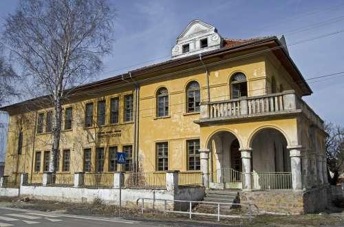 Abandoned School Bulgaria Village Dilapidated