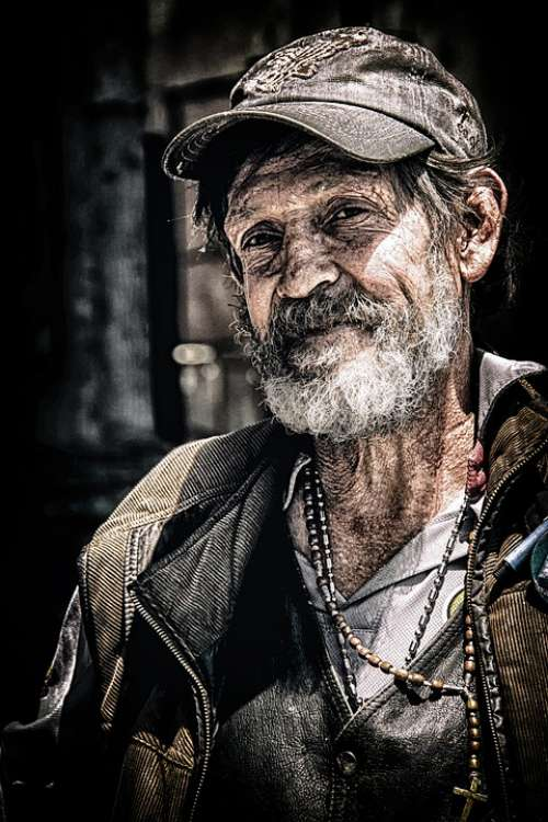 Acualung Poor Poverty People Man Male Human