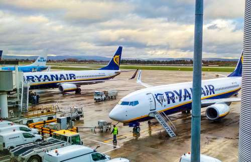 Airplane Ryanair Aircraft Travel Wing Airport