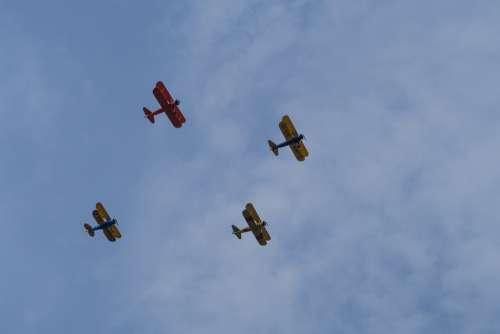 Airplane Sky Clouds Aviation Flight Propeller Jet