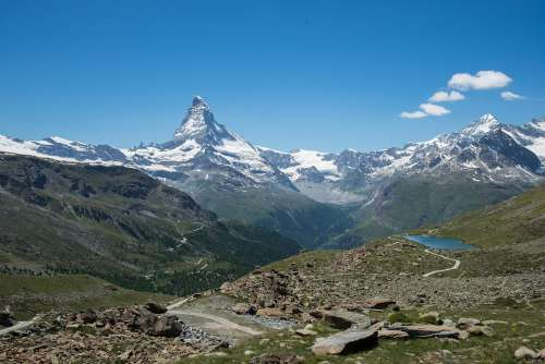 Alpine Mountains Switzerland Four Thousands