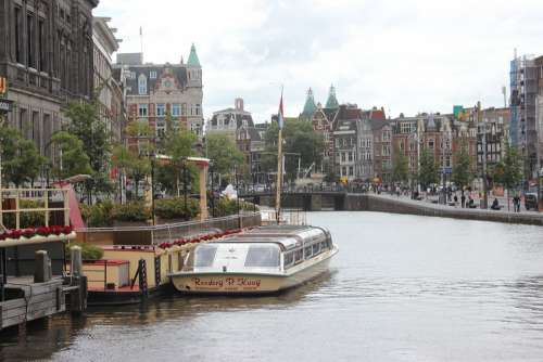 Amsterdam City Netherlands Ship Channels Landscape