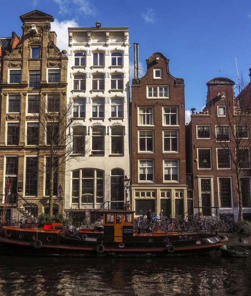 Amsterdam Canal Old Town Europe Holland