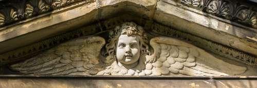 Angel Tomb Cemetery Sculpture Stone Angel Figure