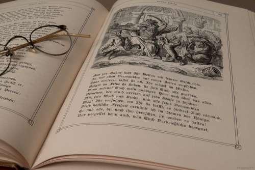 Antique Glasses Old Read Books Retro Used Paper