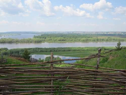 Antiquity Village Museum Landscape Wood Russia