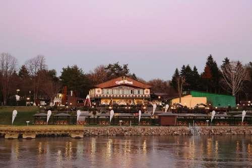 Arad Romania Restaurant Nature Water River